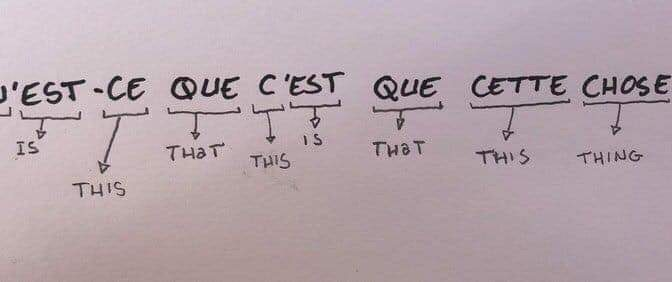 A re-run of the French Language